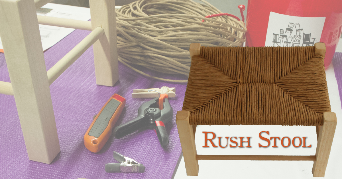 Stool With Rush Top - Saturday AM